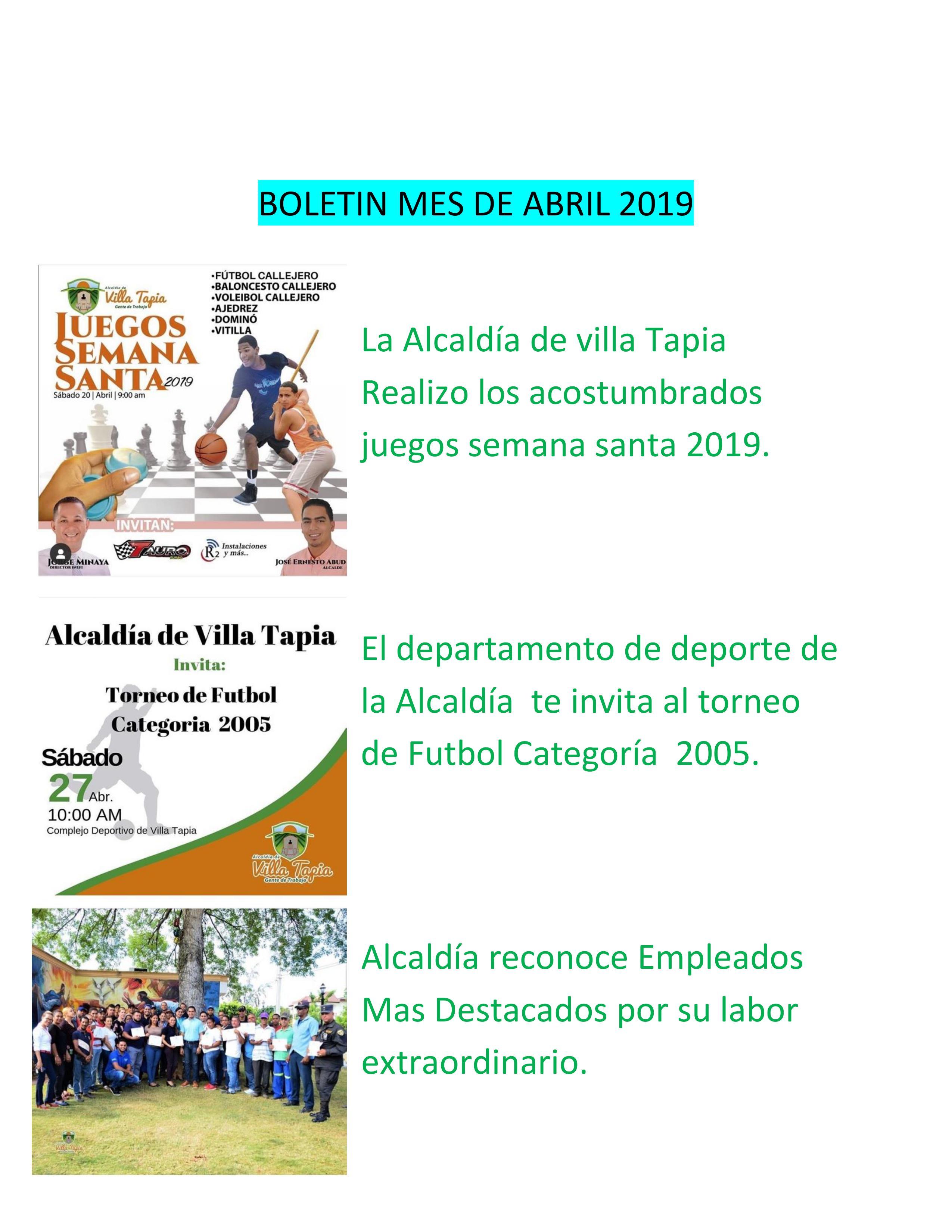 Boletin Abril 2019