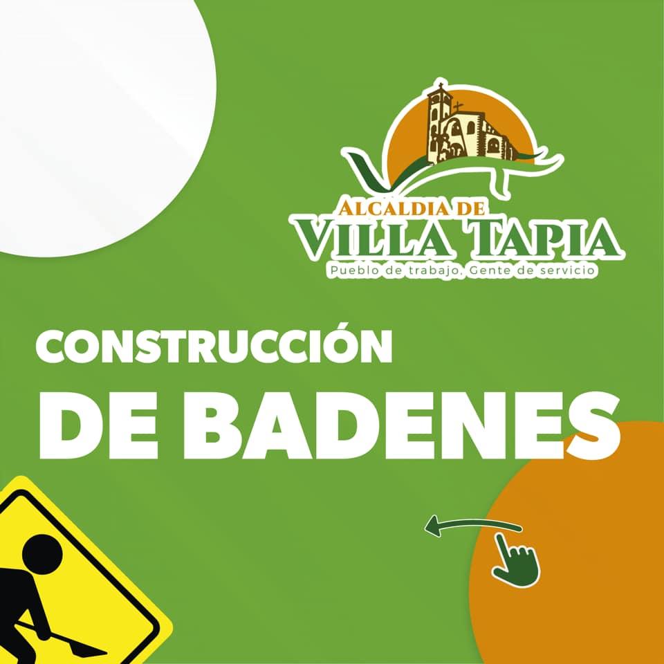 Construcción del badén que conecta la Prolongación Hermanas Mirabal con la C/Juan Ventura y la C/Luz Estrella de Quezada.
