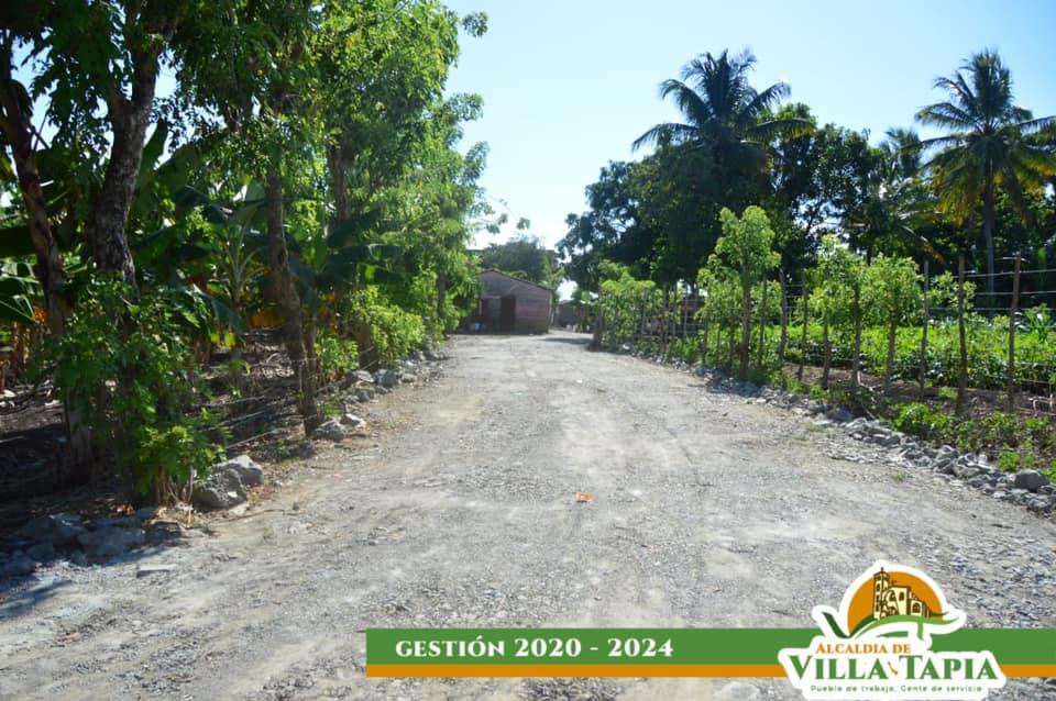 La Alcaldía de Villa Tapia  habilita caminos vecinales